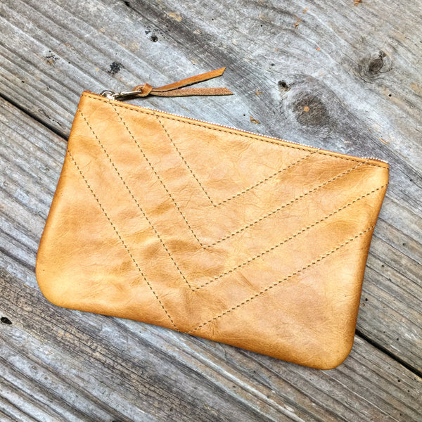 BOHO Zippered Pouch - Whiskey