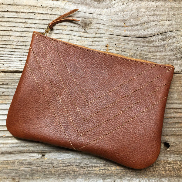 BOHO Zippered Pouch - Pecan