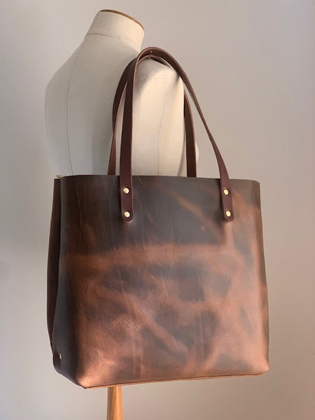 The Scout Classic Leather Tote - Coffee Limited Edition