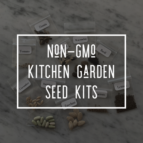 Non-GMO Kitchen Garden Seed Kit (Includes FREE Online Class!)
