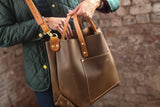 The Alex Leather Tote - Olive Tan - Bag - Maycomb Mercantile - 5