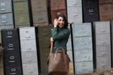 The Alex Leather Tote - Olive Tan - Bag - Maycomb Mercantile - 10