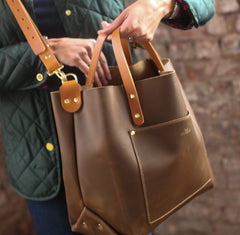 The Alex Leather Tote - Olive Tan - Bag - Maycomb Mercantile - 1