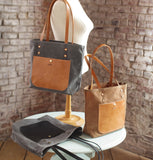 The Jayne Waxed Canvas and Leather Tote - Bag - Maycomb Mercantile - 1