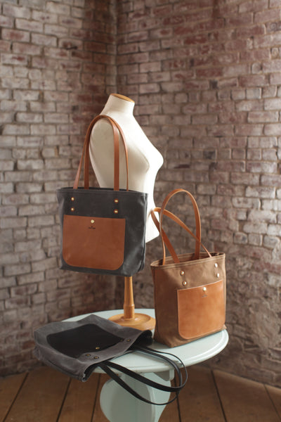 The Jayne Waxed Canvas and Leather Tote - Bag - Maycomb Mercantile - 2