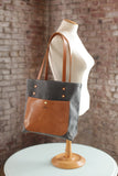The Jayne Waxed Canvas and Leather Tote - Bag - Maycomb Mercantile - 3