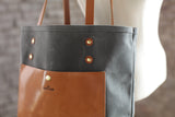 The Jayne Waxed Canvas and Leather Tote - Bag - Maycomb Mercantile - 4