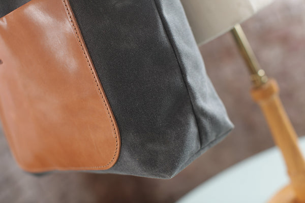 The Jayne Waxed Canvas and Leather Tote - Bag - Maycomb Mercantile - 5