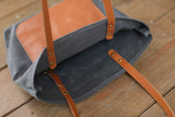 The Jayne Waxed Canvas and Leather Tote - Bag - Maycomb Mercantile - 6