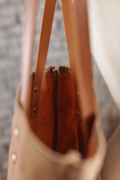 The Jayne Waxed Canvas and Leather Tote - Bag - Maycomb Mercantile - 11