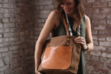 The Jayne Waxed Canvas and Leather Tote - Bag - Maycomb Mercantile - 13