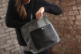 The Jayne Waxed Canvas and Leather Tote - Bag - Maycomb Mercantile - 18