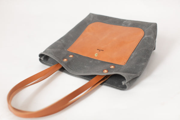 The Jayne Waxed Canvas and Leather Tote - Bag - Maycomb Mercantile - 19