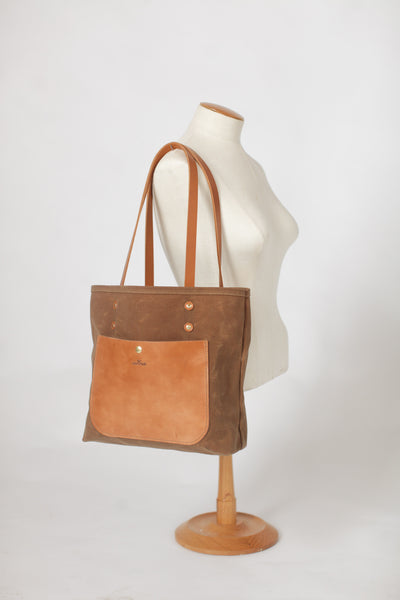 The Jayne Waxed Canvas and Leather Tote - Bag - Maycomb Mercantile - 22