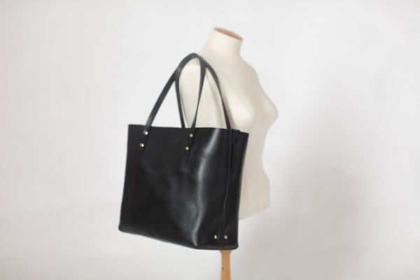 The Scout Classic Leather Tote - Black - Bag - Maycomb Mercantile - 9