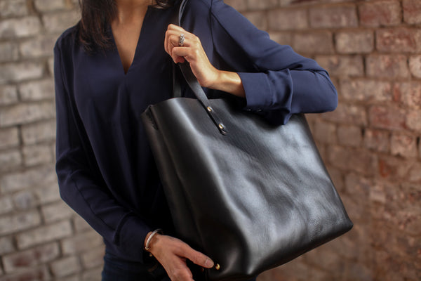 The Scout Classic Leather Tote - Black - Bag - Maycomb Mercantile - 6