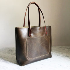 The Scout 2.0 Leather Tote - Olive