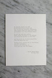 "8x10"" Letterpress Art Print - Poem by Rilke"
