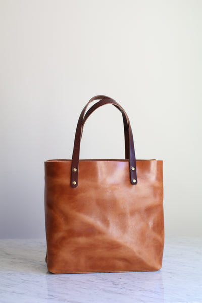 The Scout Classic Leather Tote - Café