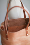 The Scout Classic Leather Tote - Caramel