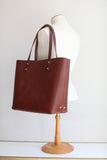 The Scout Classic Leather Tote - Cigar