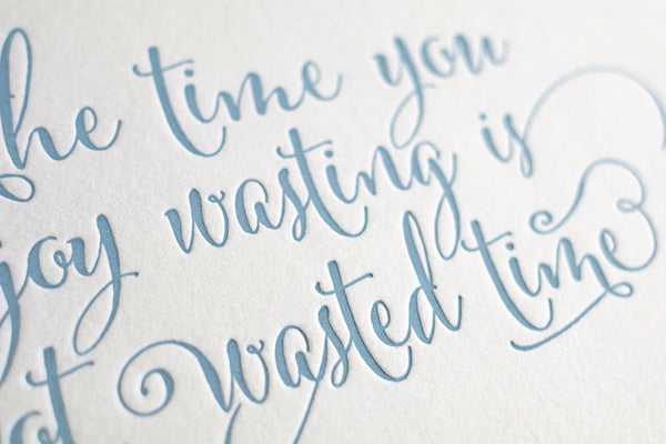 "8x10"" Letterpress Art Print - ""Time"""