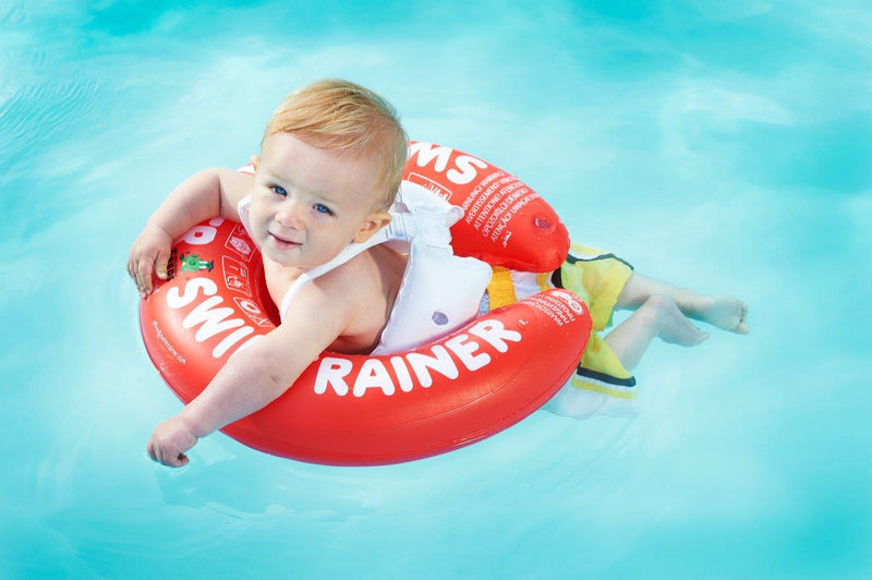 swimtrainer baby toddler swim ring flotation aid learn to swim baby float pool floatie swimming lessons for baby
