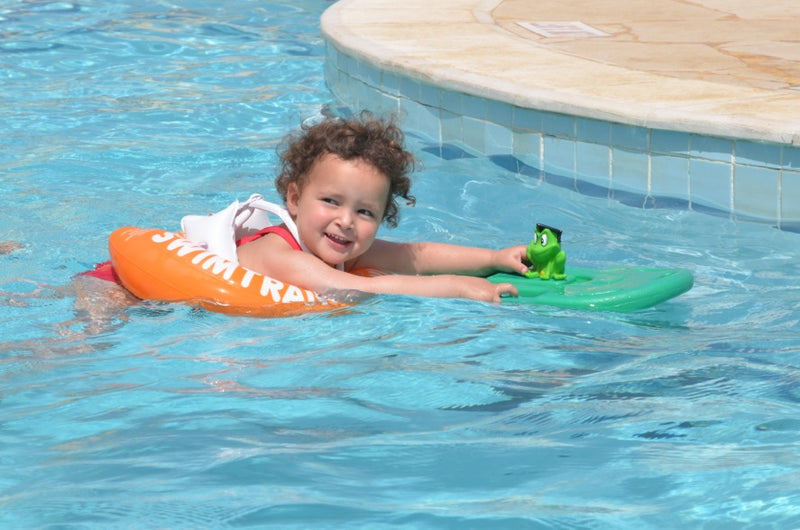 swimtrainer baby toddler swim ring flotation aid learn to swim baby float pool floatie swimming lessons