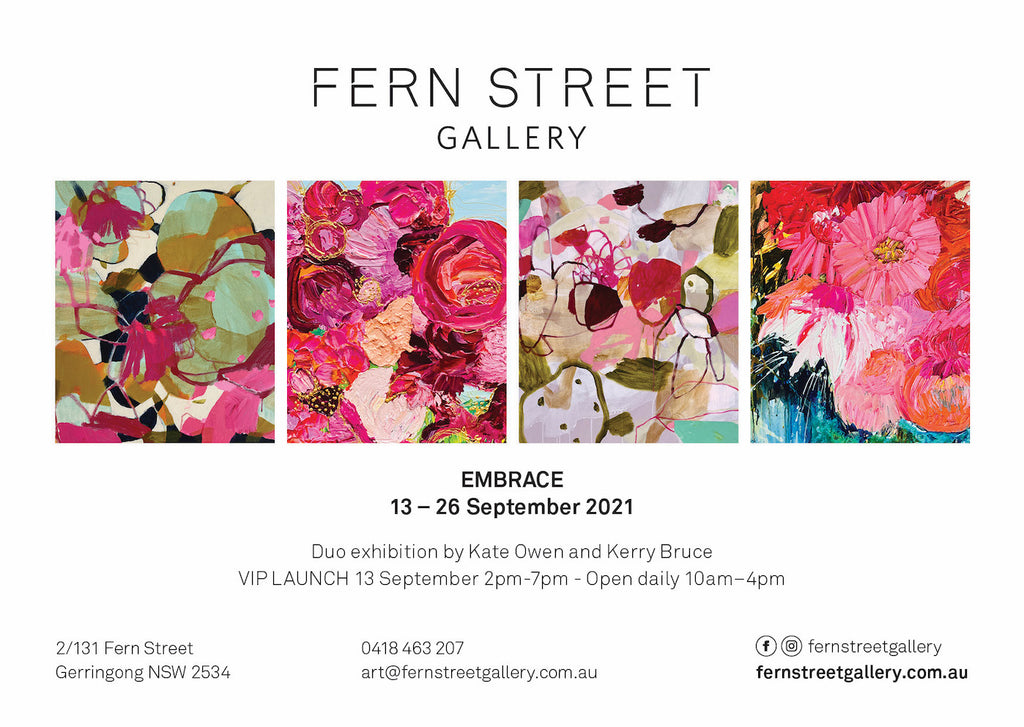 Embrace Exhibition at Fern Street Gallery by Kate Owen and Kerry Bruce
