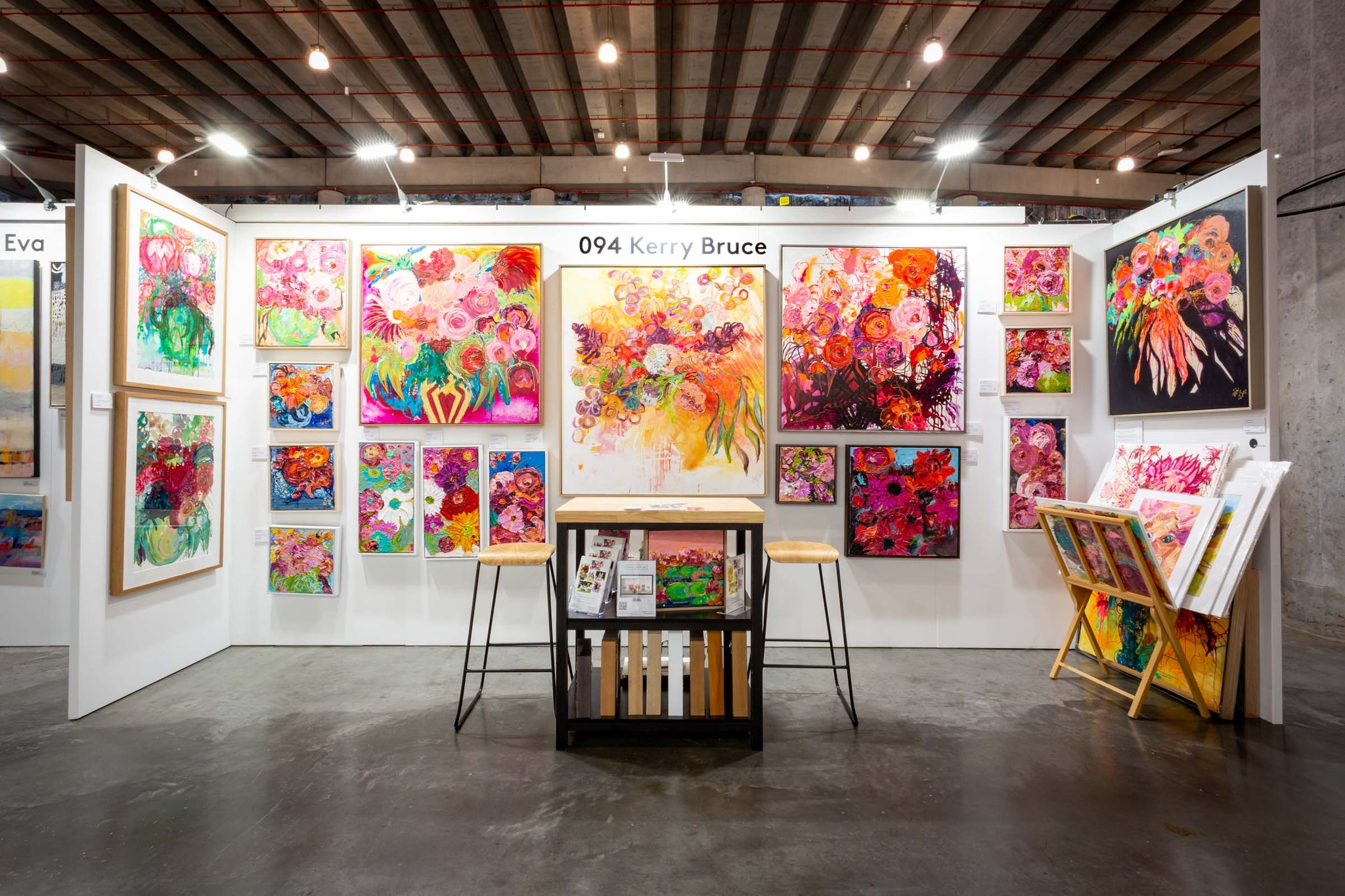 Kerry Bruce Art stand at The Other Art Fair (TOAF) Sydney March 2021