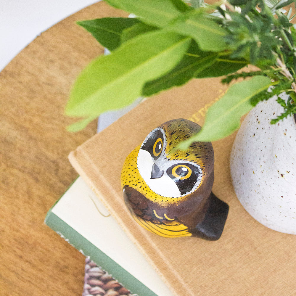 Boobook Owl Paperweight Whistle