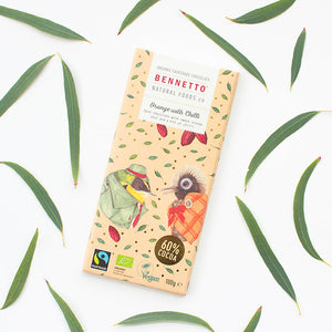 Orange & Chilli - Fair Trade, Vegan, Gluten-Free Chocolate by Bennetto, Songbird Australia