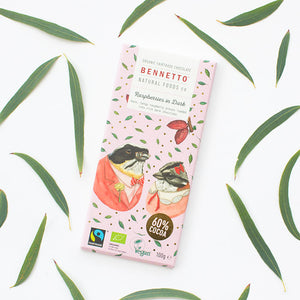 Raspberry & Dark - Fair Trade, Vegan, Gluten-Free Chocolate by Bennetto, Songbird Australia