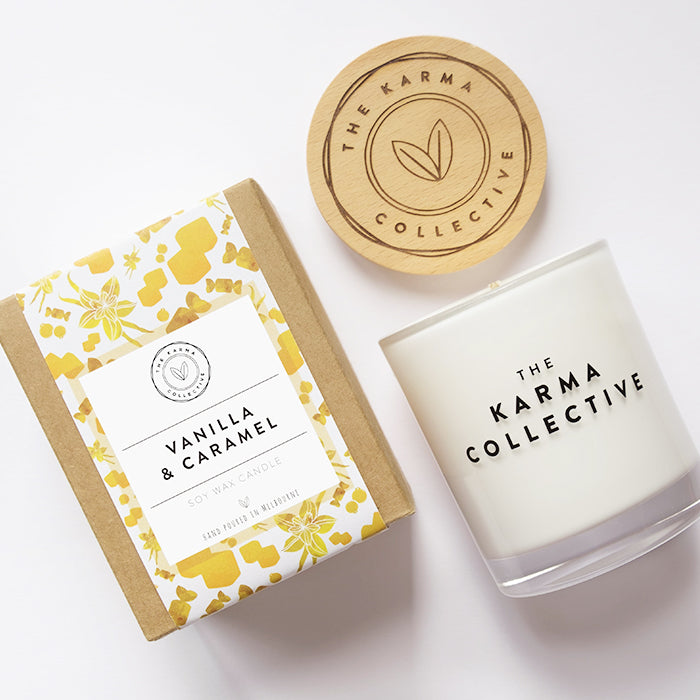 Vanilla & Amber Soy Candle by The Karma Collective