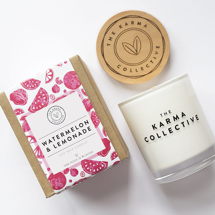 Watermelon & Lemonade Soy Wax Candle by The Karma Collective