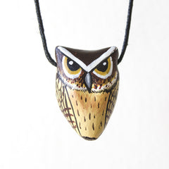 Indian Scops Owl Necklace