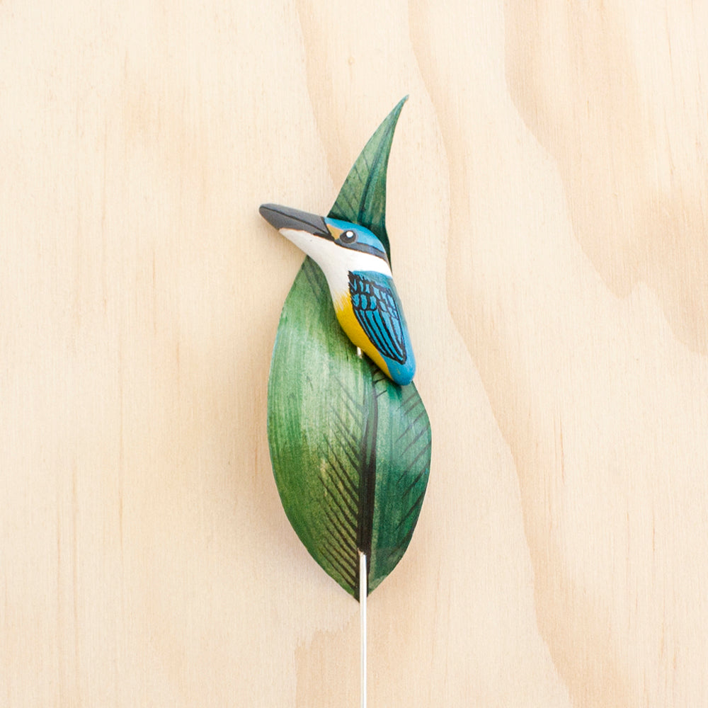 Sacred Kingfisher Pin