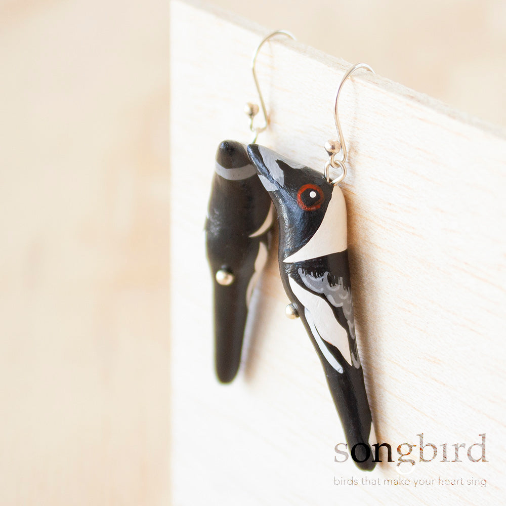 Australian Magpie Earrings