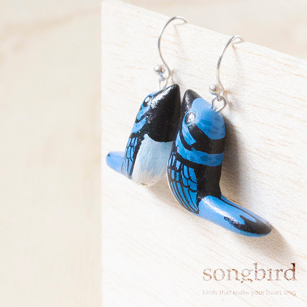 Superb Fairy Wren Earrings, Jewellery & Gifts for Bird Lovers, Songbird Collection Australia