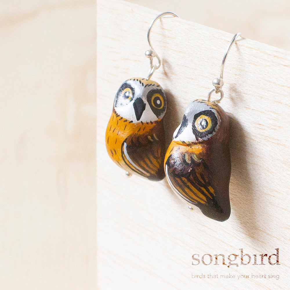 Boobook Owl Earrings