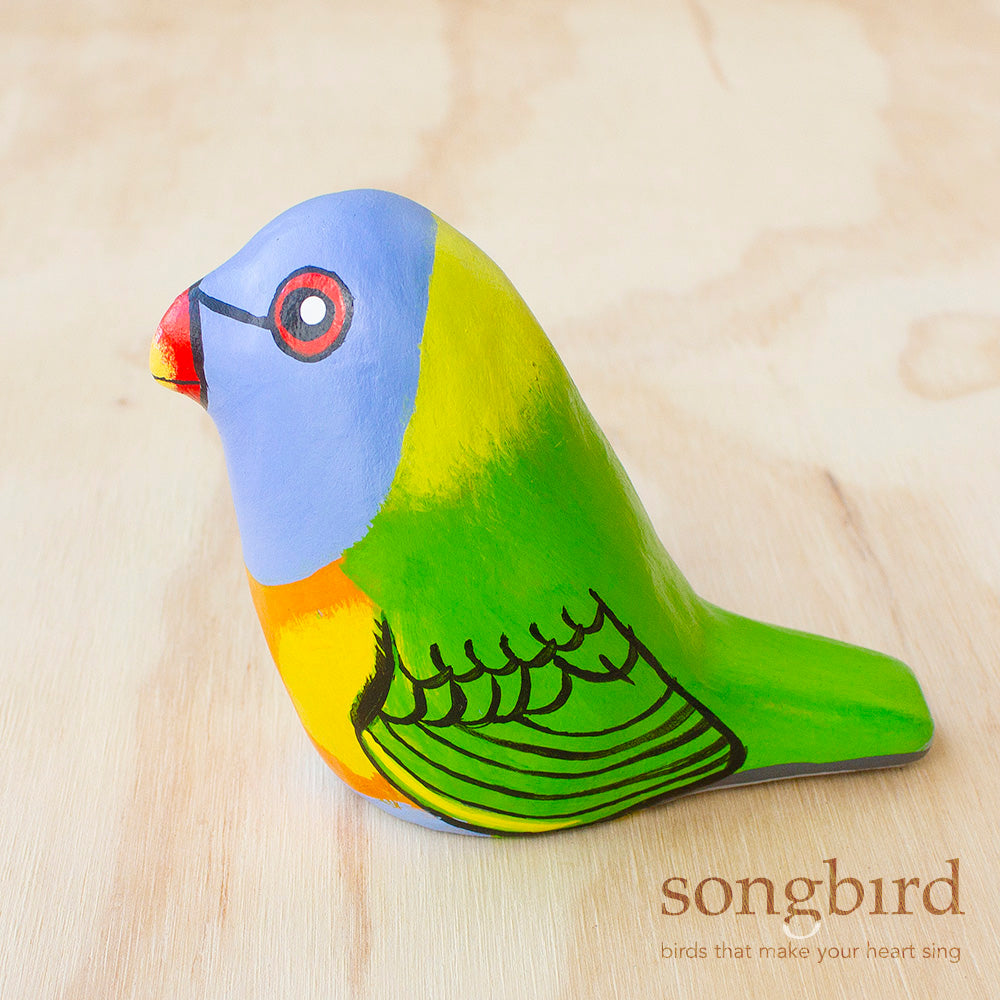 Rainbow Lorikeet Paperweight Whistle