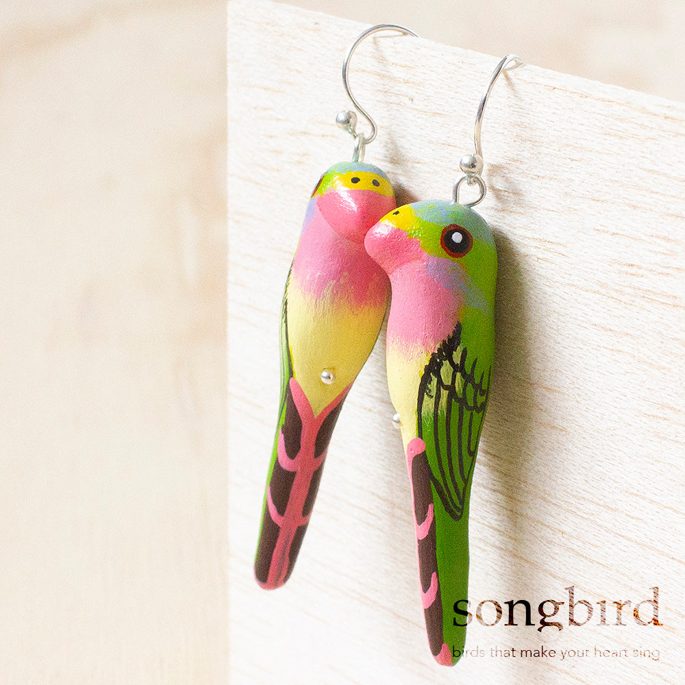 Princess Parrot Earrings, Jewellery & Gifts for Bird Lovers, Songbird Collection Australia