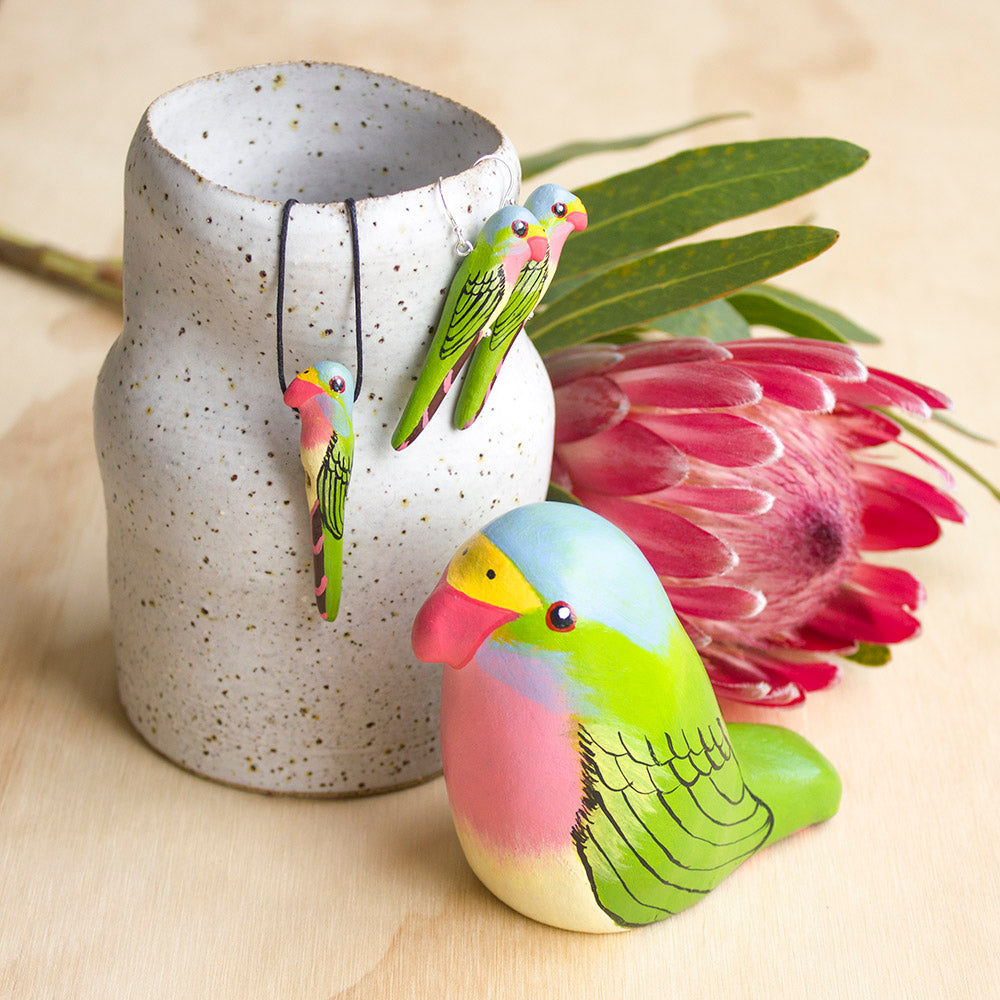 Princess Parrot Paperweight Whistle