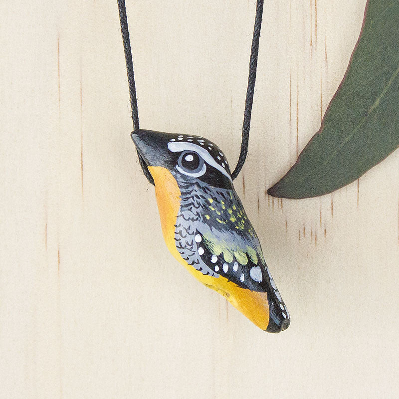 Spotted Pardalote Whistle Necklace - Handmade, Australian Birdlife, Songbird - Birds that make your heart sing...