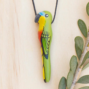 Orange Bellied Parrot Whistle Necklace