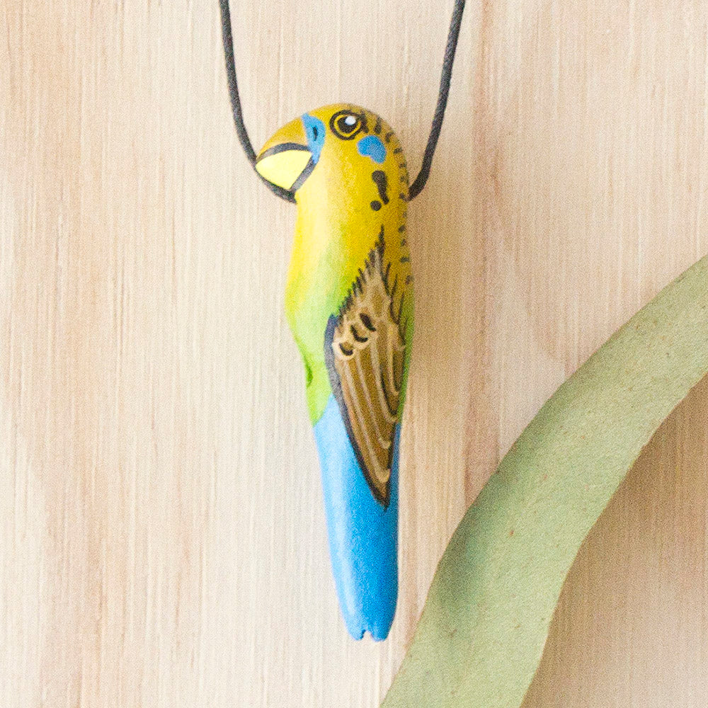 Budgerigar Whistle Necklace, Budgie Necklace, Songbird Australia, Jewellery for Bird Lovers