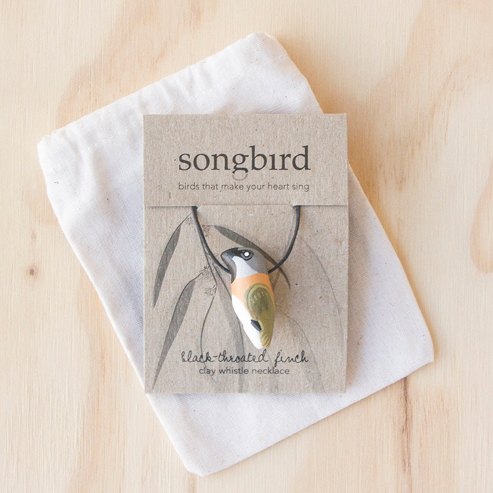 Black-Throated Finch Whistle Necklace