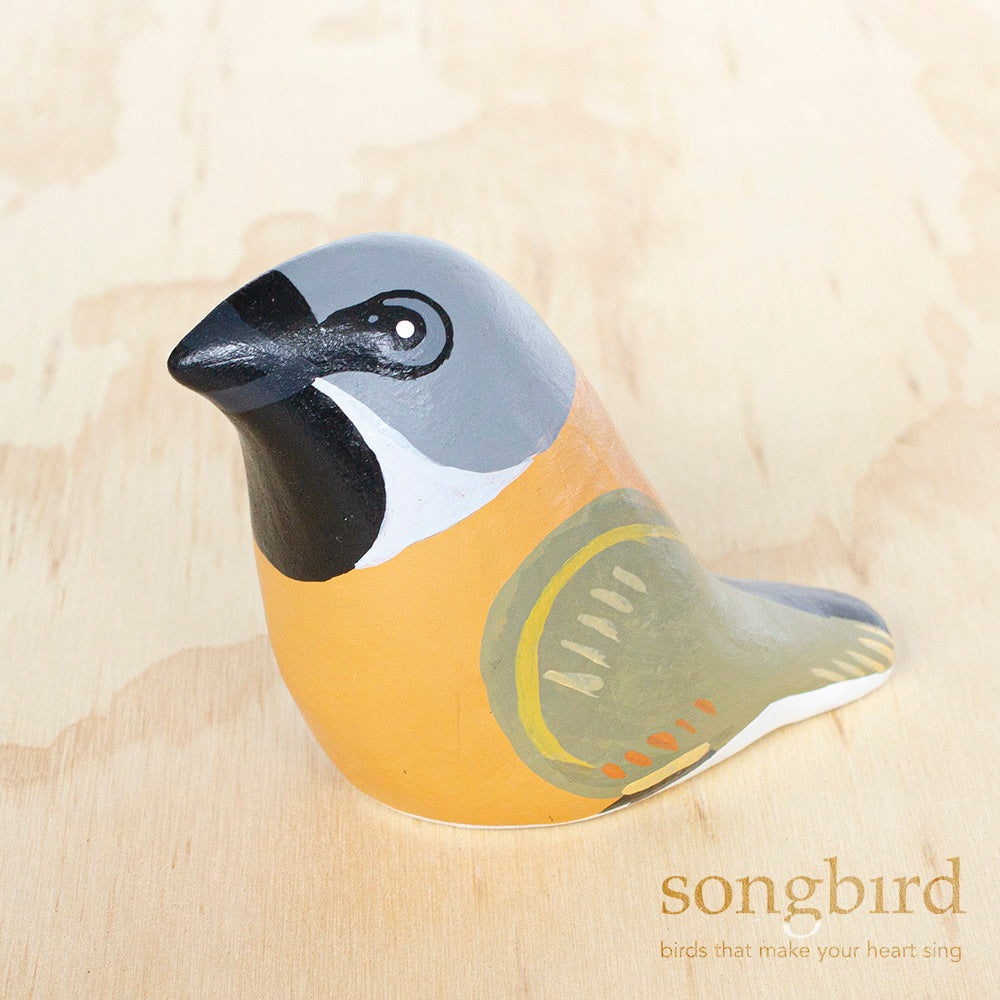 Black-Throated Finch Paperweight Whistle
