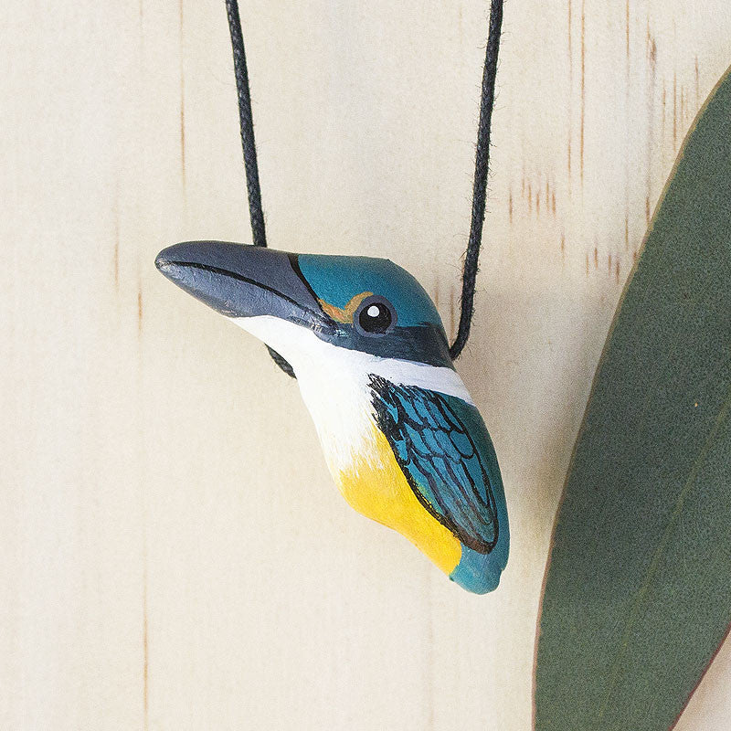 Sacred Kingfisher Whistle Necklace