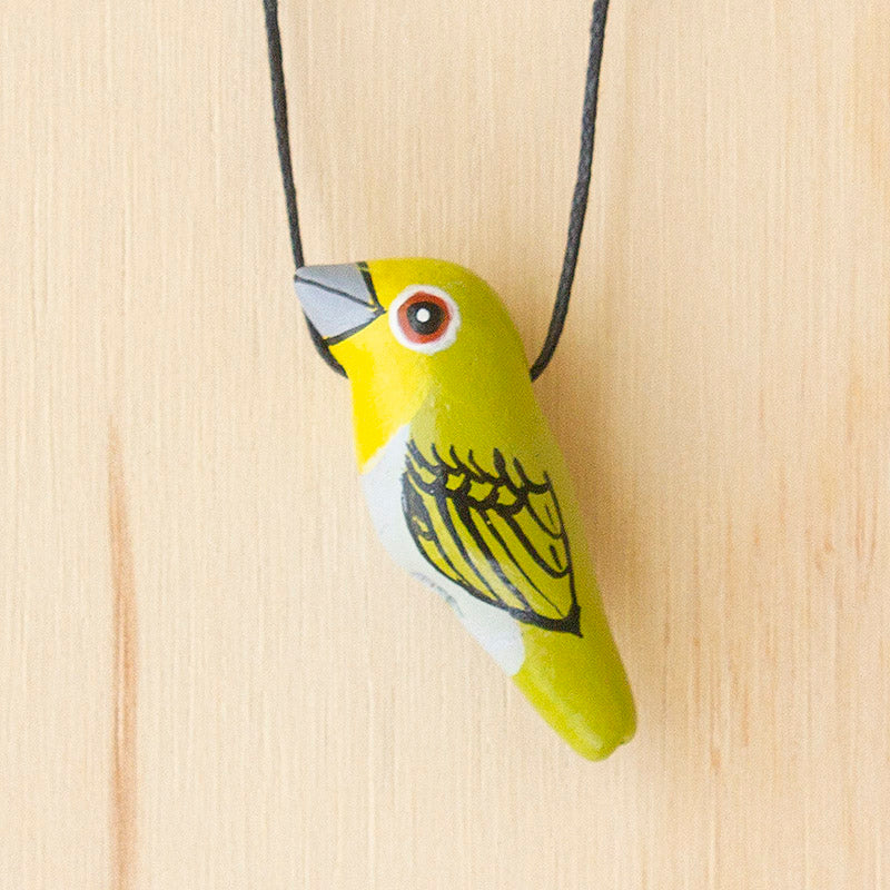 Silvereye Whistle Necklace, Gifts & Jewellery for Bird Lovers, Songbird Collection Australia